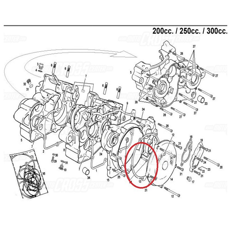 DISC CLUTCH COVER GASKET GAS GAS EC 200/250/300 (2000-2013