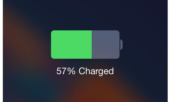 iOS Bateria