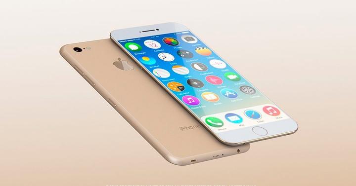 iPhone 7 concepto dorado