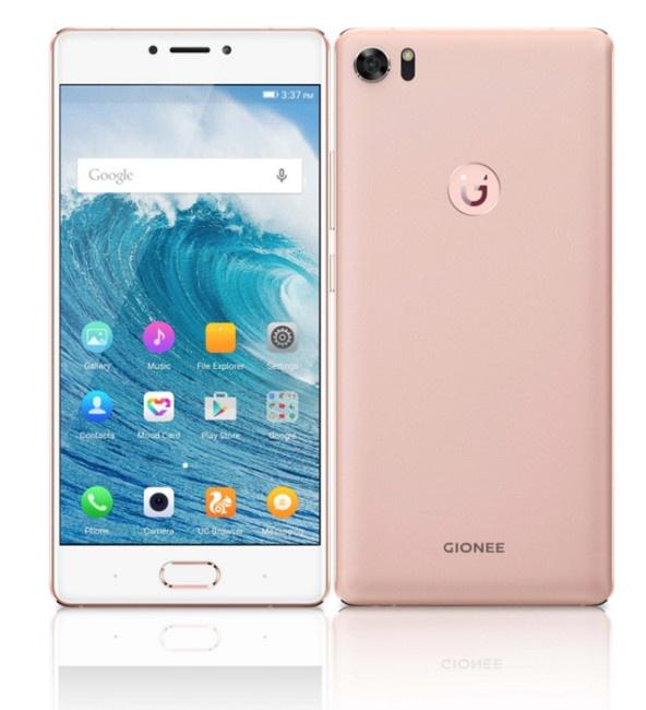 Diseño del Gionee S8 en color rosa