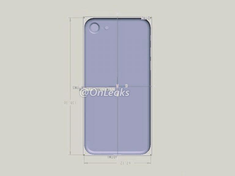 gráfico del iPhone 7 y sus dimensiones
