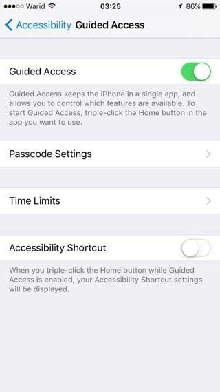 acceso guiado iPhone