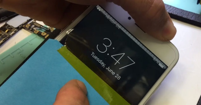 Error en la pantalla de un iPhone 6