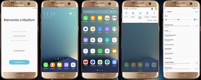 ROM personalizada para el Samsung Galaxy S7 Edge