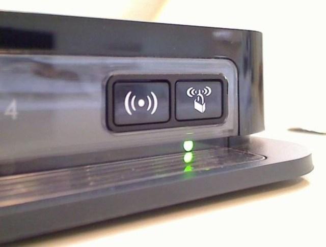 detalle de los botones de un router