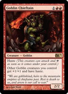 Image result for goblin chieftain mtggoldfish