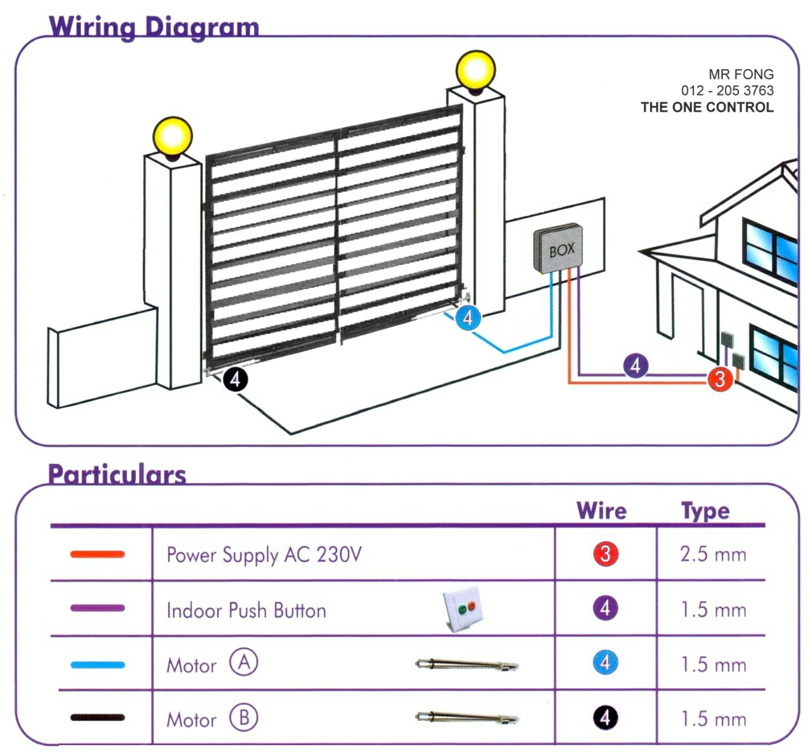 wiring diagram energy autogate auto gate system selangor malaysia kuala lumpur kl subang puchong supplier supply supplies installation the one  [ 1000 x 931 Pixel ]
