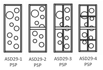 PVC Solid Panel (PSP) Aluminium Swing Door 29mm Aluminium