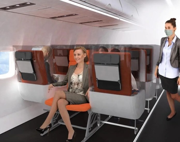 Corona virüs etkisi: Uçak yolculukları için yeni tasarım - 7