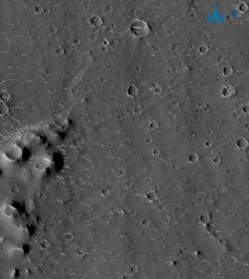 Çin, Mars'tan yeni fotoğraflar paylaştı - 1