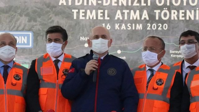 <span>Bakan Karaismailoğlu: Aydın-Denizli Otoyolu seyahat süresini 1 saat 15 dakikaya düşürecek</span><br>