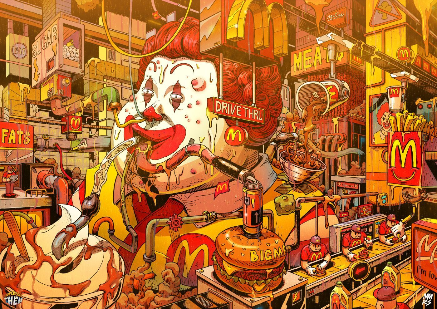 De Super Size Me A Big Brother Les Illustrations De Mr