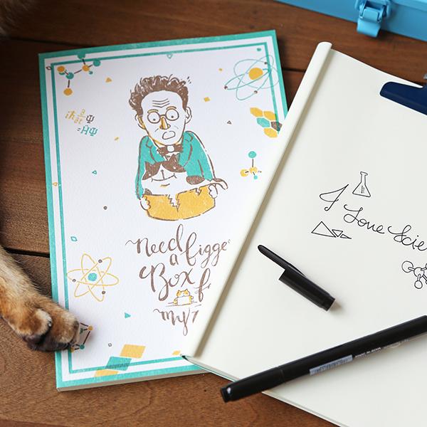 筆記本 - 薛丁格先生與他的貓 - OURS 森林好朋友