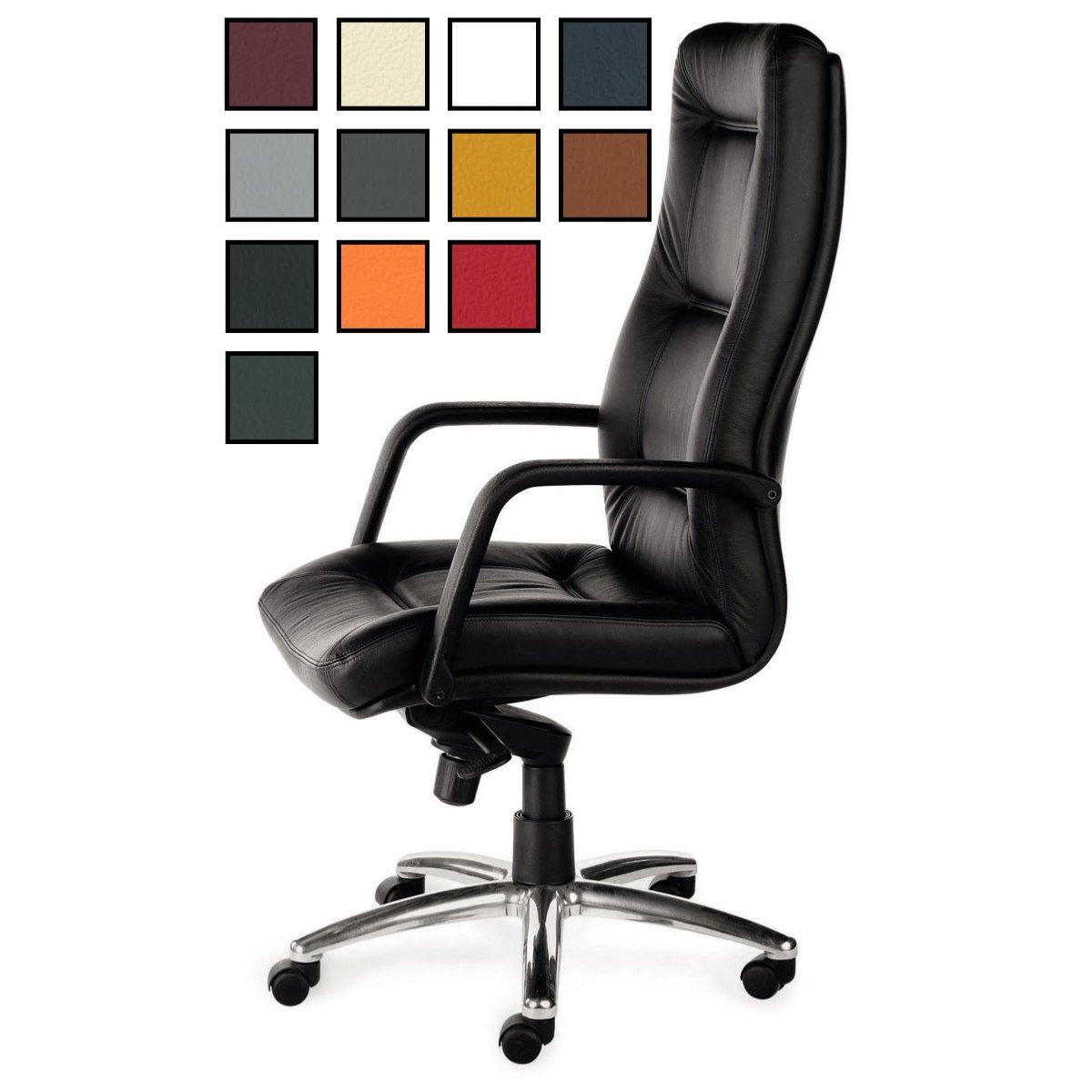maclas fauteuil de bureau president en cuir avec accoudoirs