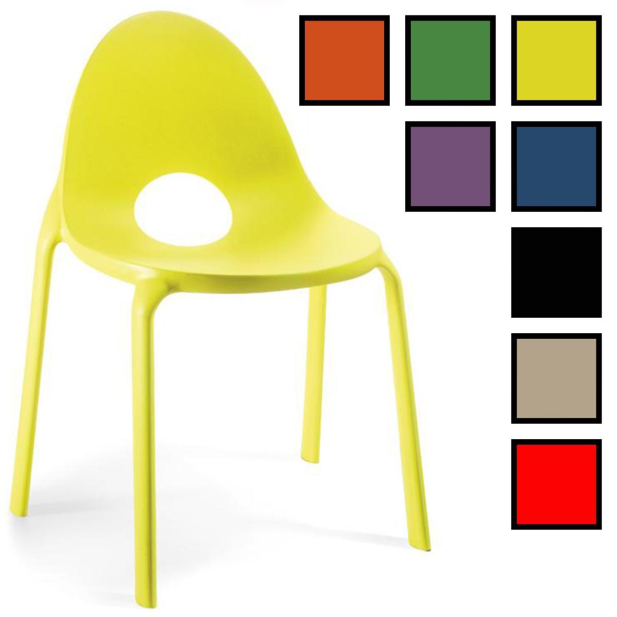hanam chaise visiteur design polypropylene jaune
