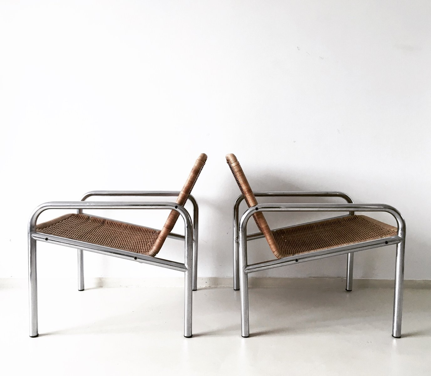 steel lounge chair target accent chairs vintage wicker and metal 1960s for sale at