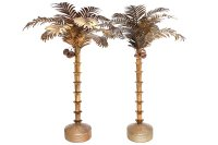 Brass Plated Palm Tree Floor Lamp, 1980s for sale at Pamono