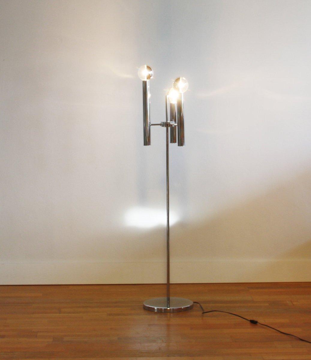Italian Floor Lamp with Three Bulbs, 1950s for sale at Pamono
