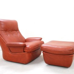 Red Leather Chair And Ottoman Sure Fit Dining Covers Bed Bath Beyond Lounge Chairs From Airborne For