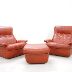 Red Leather Chair And Ottoman Sit Stand Canada Lounge Chairs From Airborne For