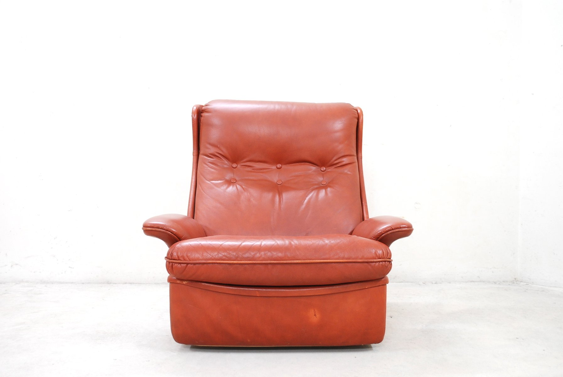 red leather chair and ottoman discount kitchen chairs lounge from airborne for