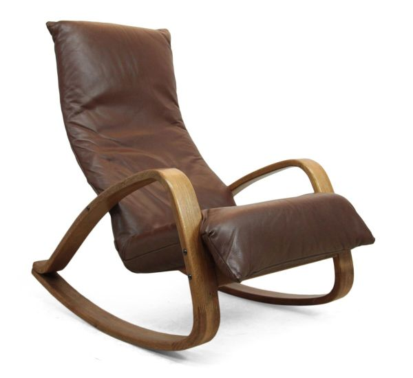 Mid Century Rocking Chair Leather