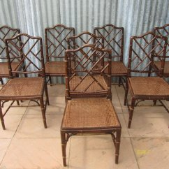 Bamboo Dining Chair Table And Set For Kids Mid Century Faux Chairs Of 8 Sale