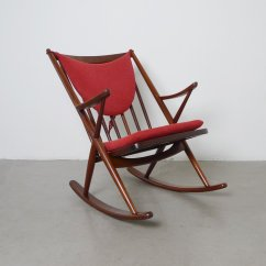 Midcentury Rocking Chair Indoor Chaise Lounge Chairs Mid Century Teak By Frank Reenskaug For