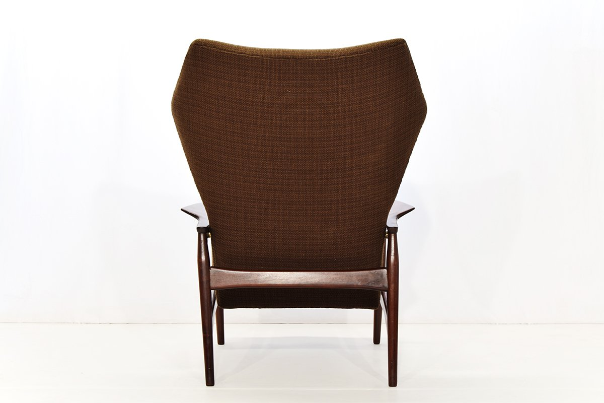 reclining wingback chair allsteel relate lounge by ib kofod larsen for