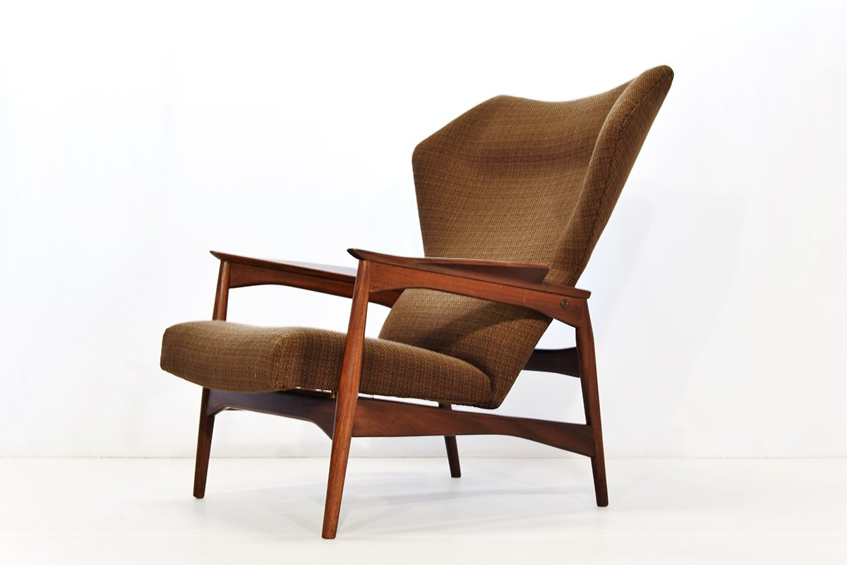 reclining wingback chair zero gravity lawn canadian tire lounge by ib kofod larsen for