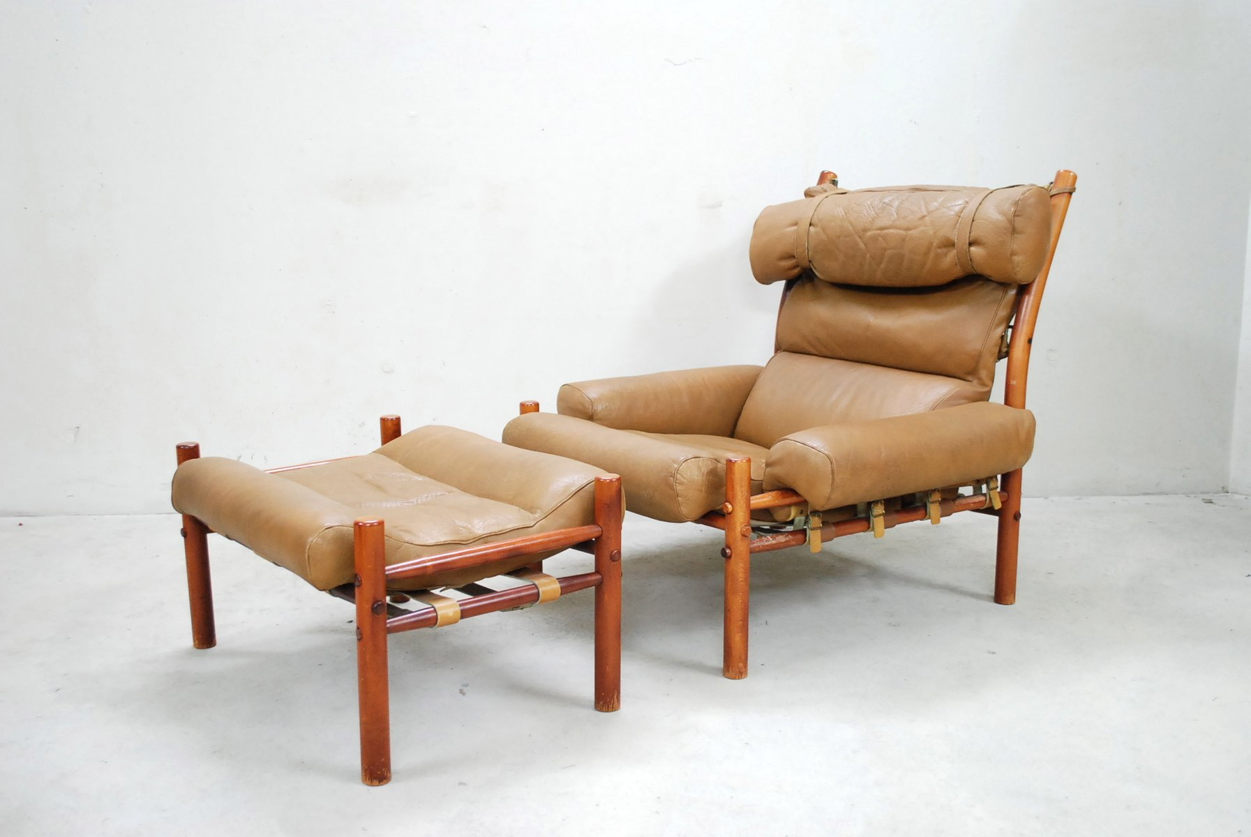 dillon chair 1 2 back jack inca lounge and ottoman by arne norell for sale at pamono