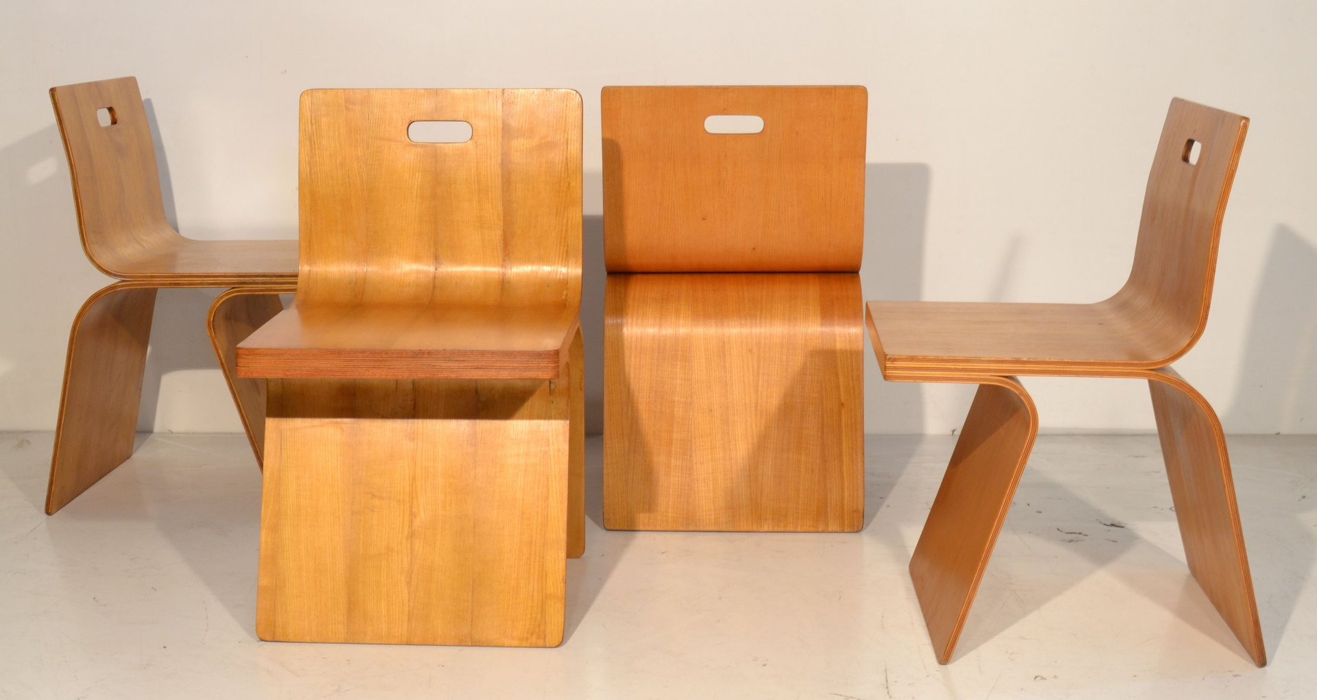 Bent Plywood Chair Italian Bent Plywood Chairs 1960s Set Of 4 For Sale At