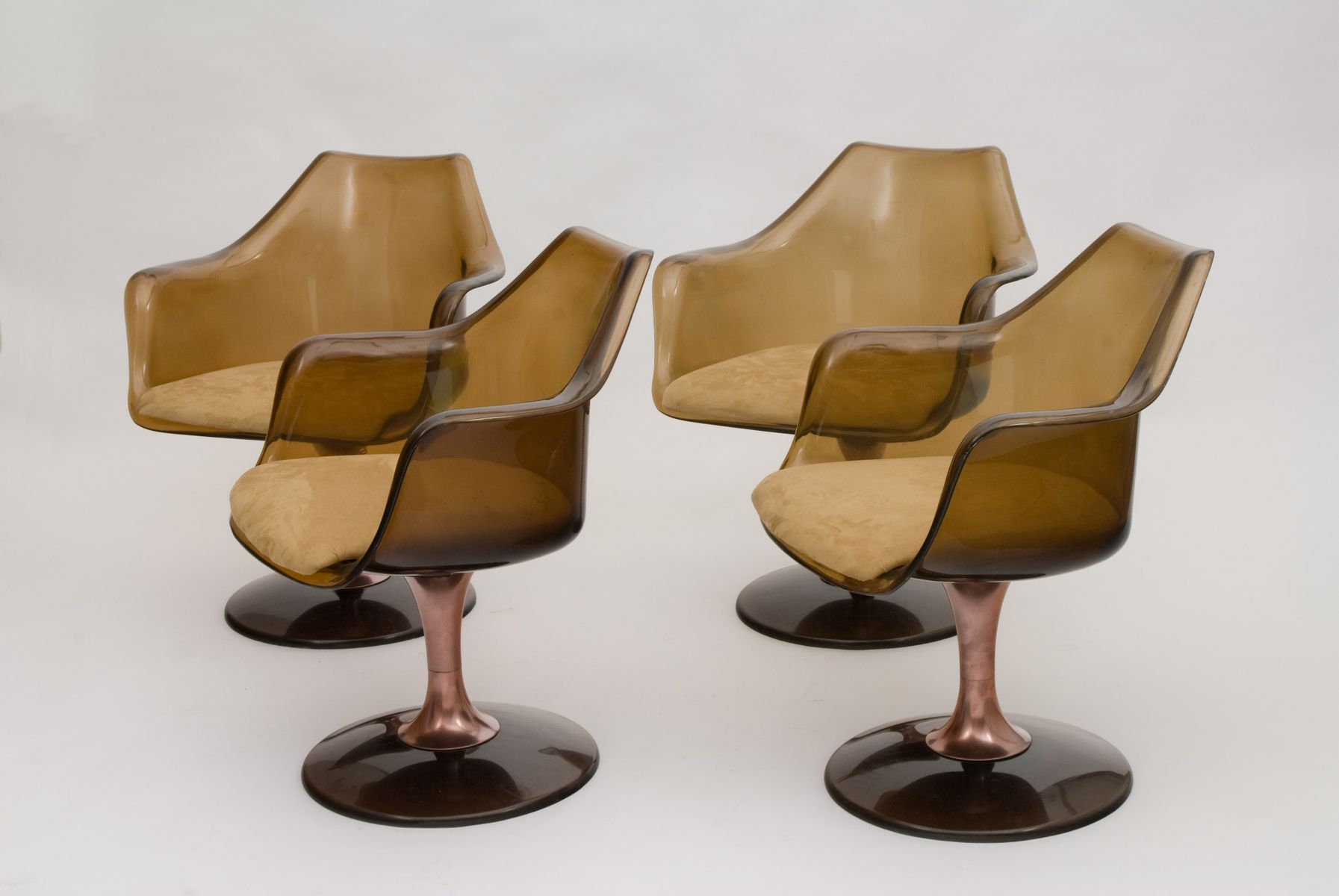 chromcraft chairs vintage wobble chair canada american swivel from set of 4
