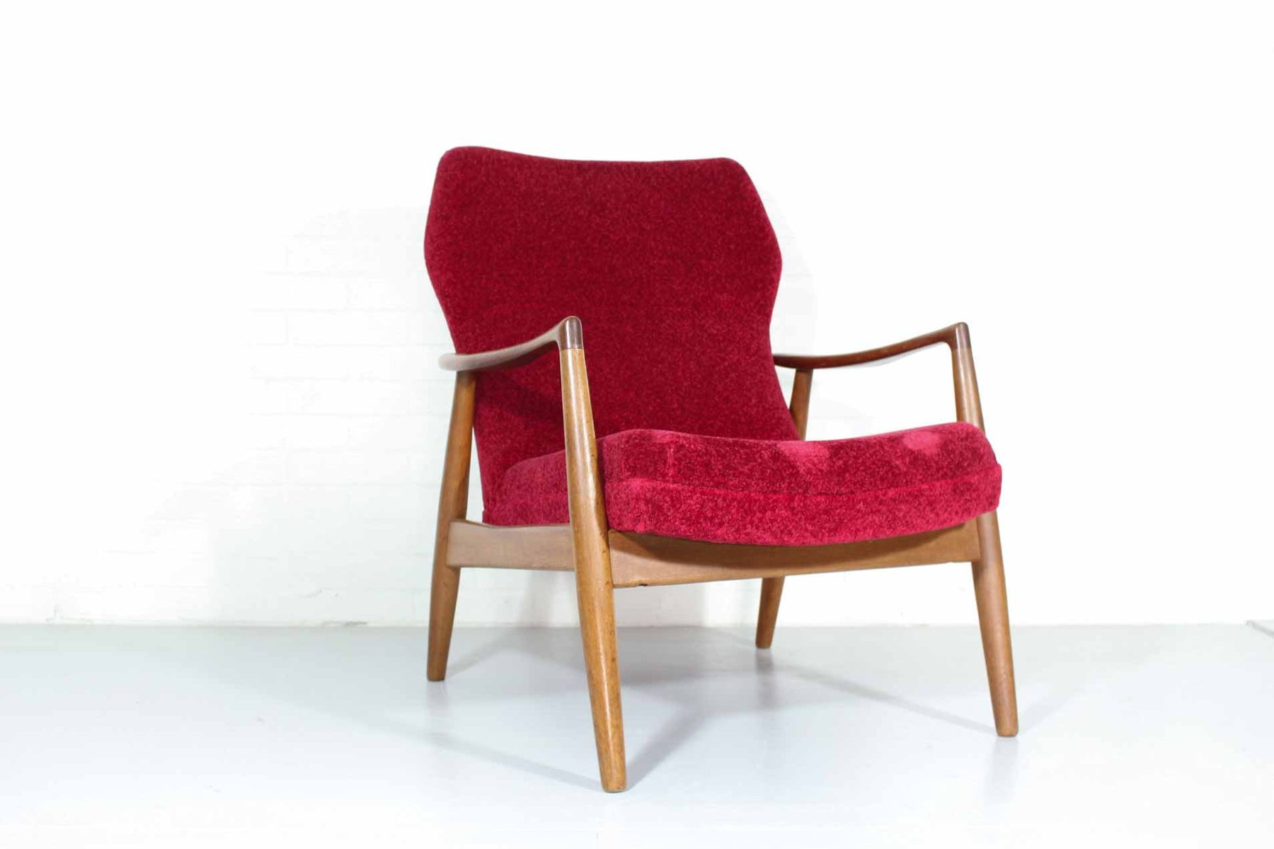 red lounge chair office accessories hs code dutch by aksel bender madsen for