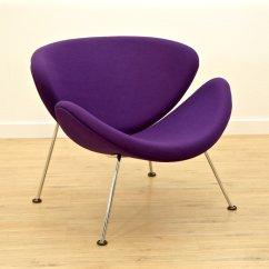 Orange Slice Chair Swivel With Ottoman Purple F 437 By Pierre Paulin For
