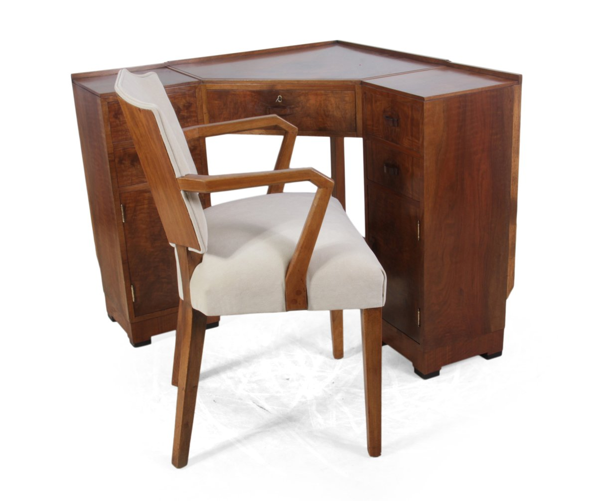 corner desk chair antique louis xvi chairs art deco english and from heals 1930s