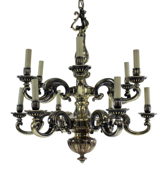 Antique Charles Ii Silver Chandelier
