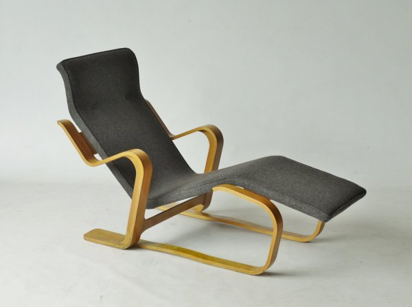 Modernist Plywood Long Chair by Marcel Breuer 1960s for