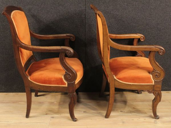 Antique French Armchairs, Set of 2 for sale at Pamono