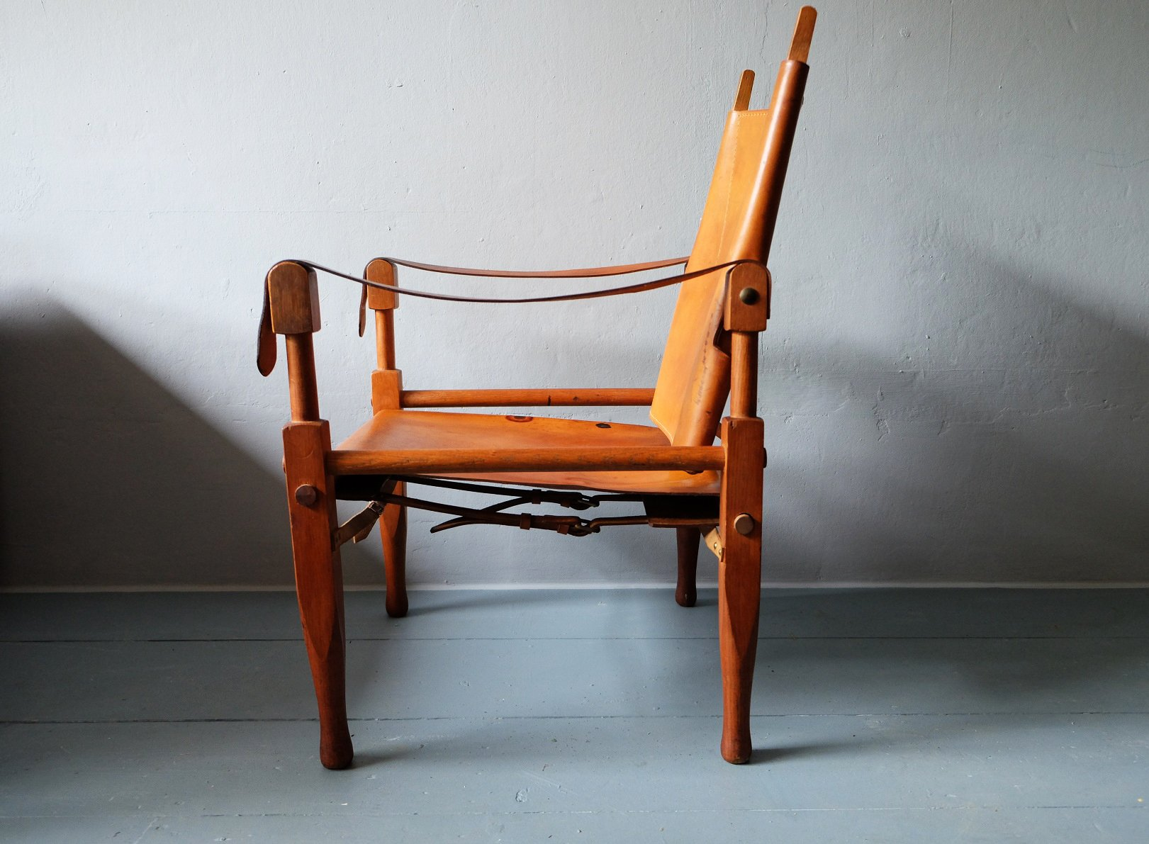 leather safari chair rent chairs and tables for cheap ash by wilhelm kienzle 1950s