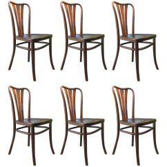 Set Of Six Dining Chairs For Sale Directors Chair Canvas Replacement Covers Vintage From Thonet 1930s 6
