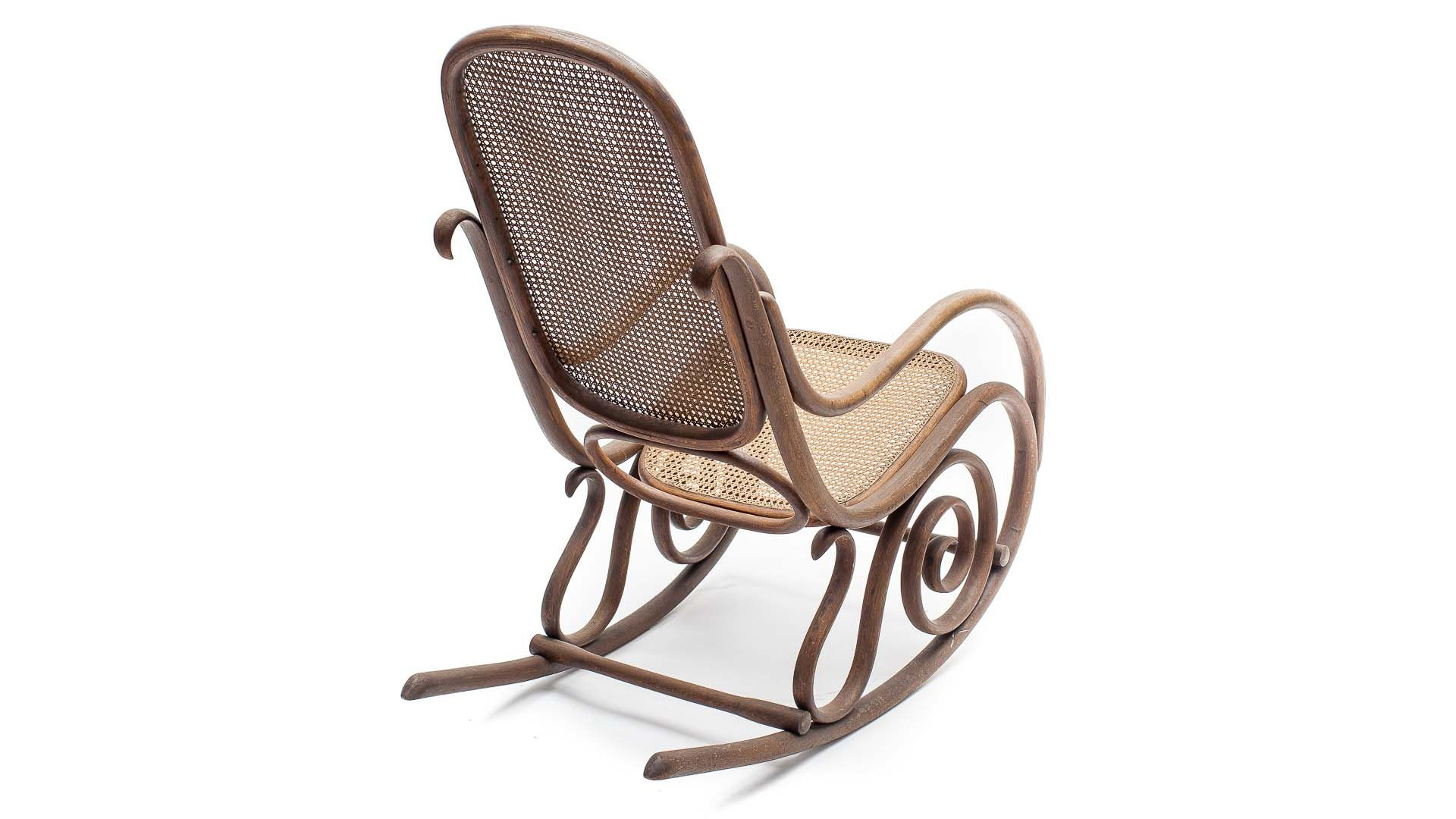 rocking chair cane wheel parts antique by michael thonet for