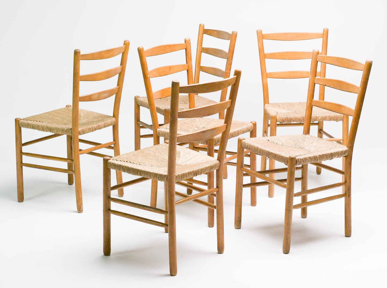set of 8 dining chairs saddle seat chair swedish oregon pine for sale at pamono