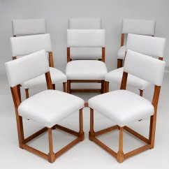 Set Of 8 Dining Chairs Pine Kitchen Ireland French Walnut 1920s For Sale At