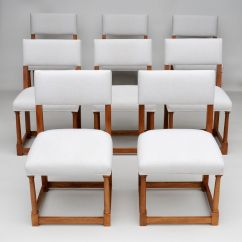 Set Of 8 Dining Chairs Chromcraft Kitchen Chair Parts French Walnut 1920s For Sale At