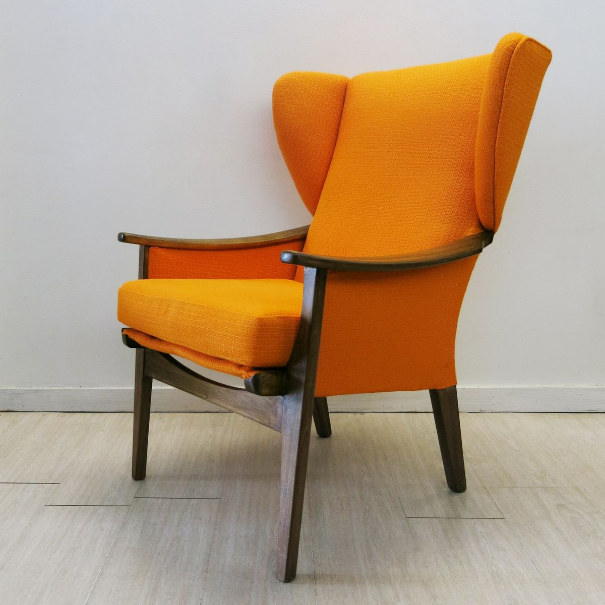 Orange Wingback Chair Vintage British Orange Wingback Chair From Parker Knoll