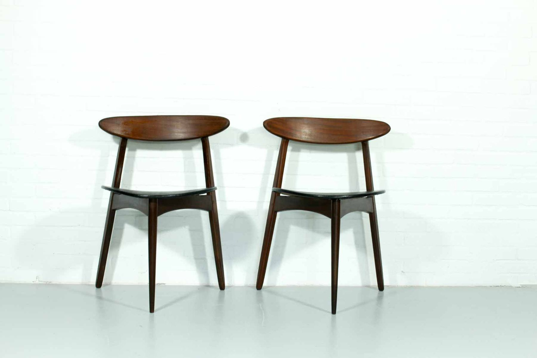 Mid Century Dining Chairs Mid Century Danish Dining Chairs Set Of 2 For Sale At Pamono