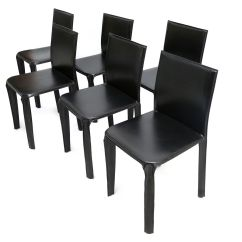 Black Leather Chair Dining Target Patio Chairs From Arper 1970s Set Of 6