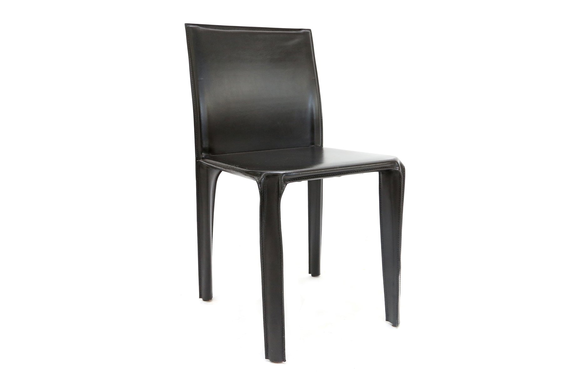 Black Leather Dining Chairs Black Leather Dining Chairs From Arper 1970s Set Of 6