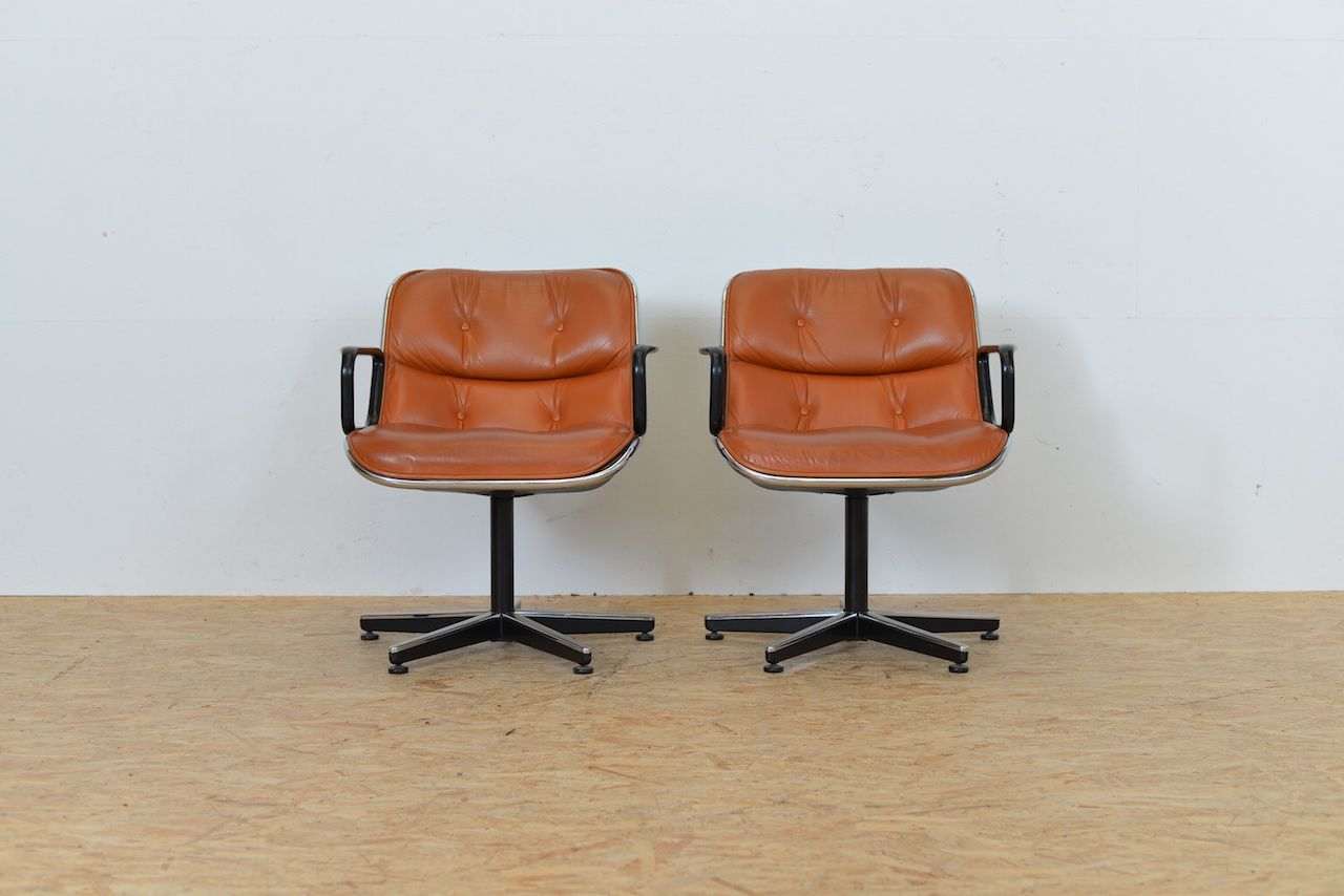 conference chairs for sale white armless office chair by charles pollock knoll at